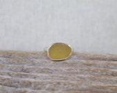 Size 7 ~ Yellow Sea Glass Ring