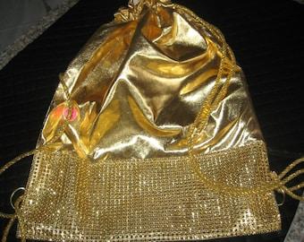 Exclisive Gold/Rhinestone BACKPACK BAG  handmade