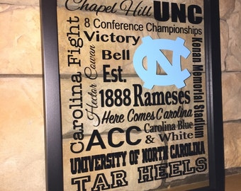 North Carolina Tar Heels 11x14 double glass frame