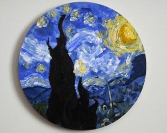 Miniature Van Gogh Painting - Starry Night