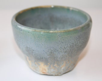 Hand thrown stoneware pottery cup