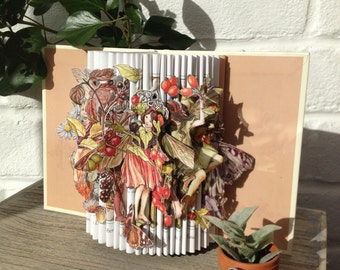 Flower Fairies of the Autumn Unique Book Sculpture