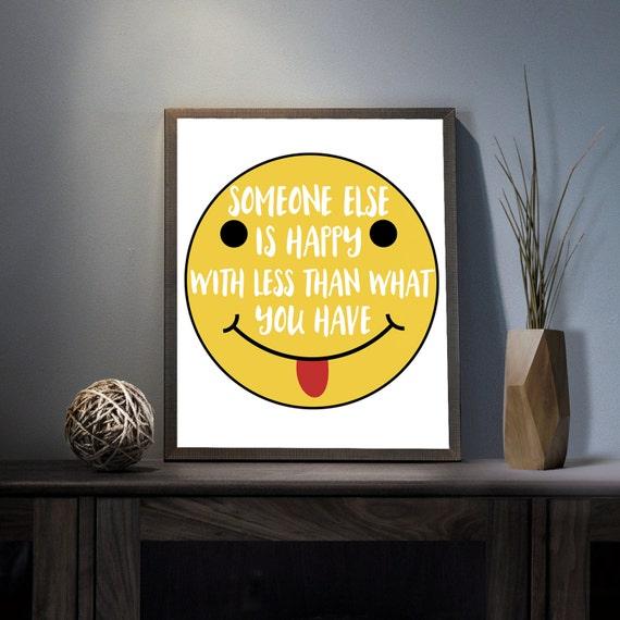 Someone else is happy Digital Art Print Inspirational Smiley