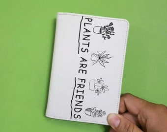 plant are friends passport - Travel gift - leather passport - passport holder - passport travel - Passport cover - PAP-010 - 1 side printed