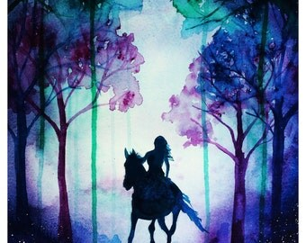 40% OFF! Horse and Rider A3 print