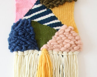 Geometric Woven Wallhanging