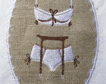 Lingerie for embroidery machine embroidery pattern