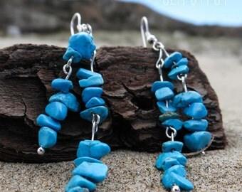 Sea Gypsy Turquoise Beachy Boho Chic Earrings
