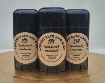Sandalwood Deodorant, Aluminum Free Deodorant, Natural Deodorant, Chemical Free Deodorant, Artisan Deodorant, Vegetarian Deodorant