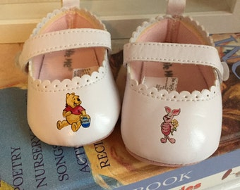 Custom Winnie the Pooh Baby Shoes