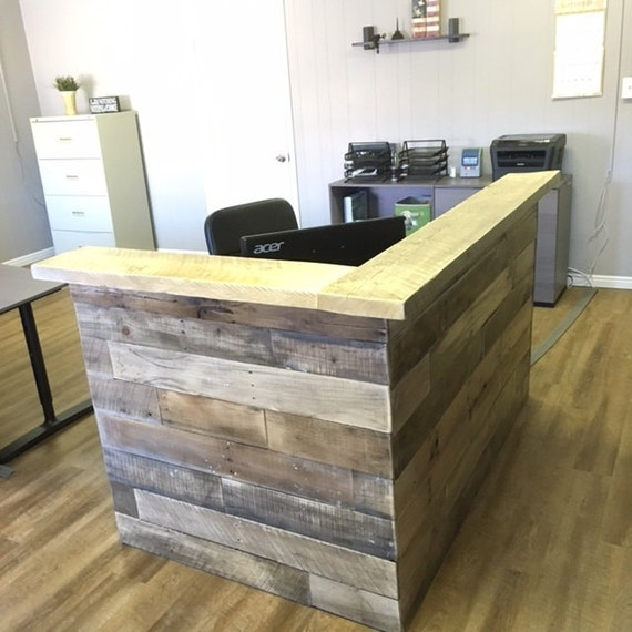 Reclaimed Wood Reception Counter Reclaimed Wood Retail Sales