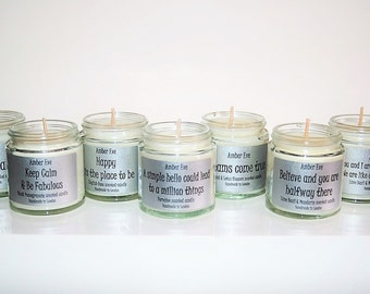Smile and the world smiles with you scented candle