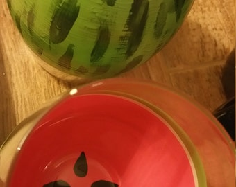 stemless watermelon wine glasses (set of 2)