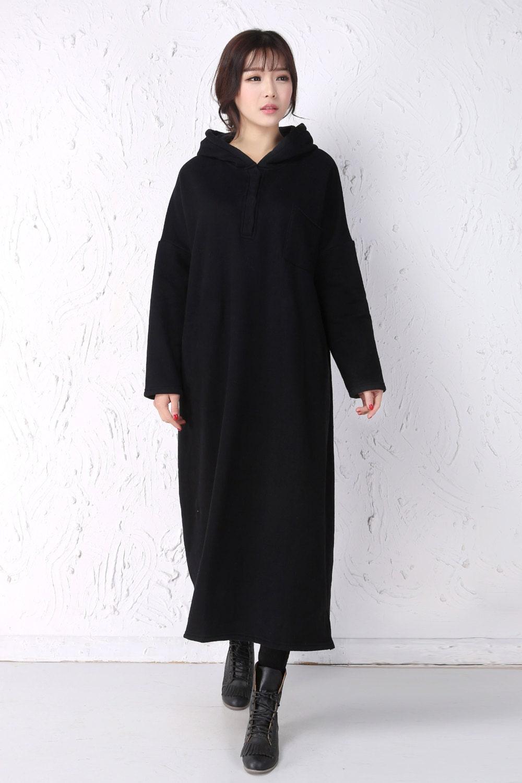 hiver polaire robe longue femme robe femme thermique paisseur. Black Bedroom Furniture Sets. Home Design Ideas