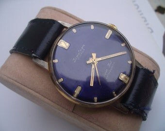 FASHION WATCH 1970's .DIMETRON  swiss made.Blue dial and band. For men