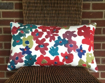 Hand Sewn Floral Pillow Cover