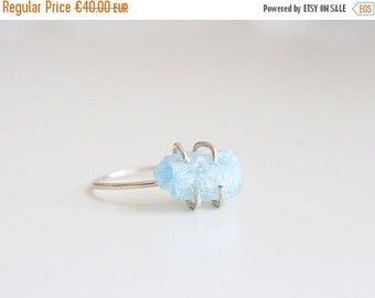 ON SALE BLUE Moon | Ring aquamarine and 925 sterling silver