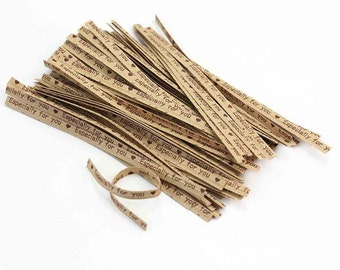 100 Especially For You Brown Kraft Twist Ties Gift Wrapping