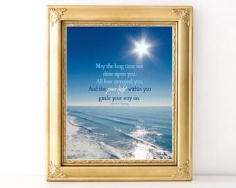 Irish Sun Blessing / Every Day Spirit / Inspirational Quote / Yoga Teacher Gift / Yoga Sun Blessing / Yoga Quote / Irish Prayer