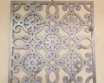 Metal Wall Art, scroll flower pattern