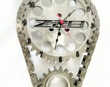 Z28 Chevy Chevrolet Camaro Emblem Timing Gear Set Wall Clock Automotive Décor