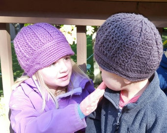 Ribbed Newsboy Hat READY TO SHIP Cute Girl or Boy Gift Billed Cap