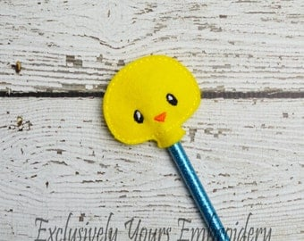 Chick Pencil Toppers - Classroom Prizes - Party Favor - Party Supplies - Small Gift - Back to School
