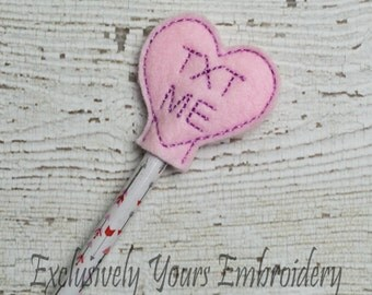 Text Me Heart Pencil Topper - Party Favor - Valentine - Classroom Prizes - I Love You - Be Mine - Happy V-Day - Small Gift - Back to School