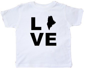 Love Maine Toddler T-Shirt by inktastic