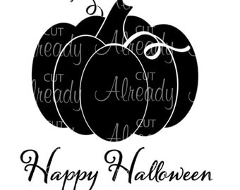 Pumpkin SVG - Halloween SVG - SVG Cutting and Print File - Silhouette or Cricut Cuttings File - Instant Download