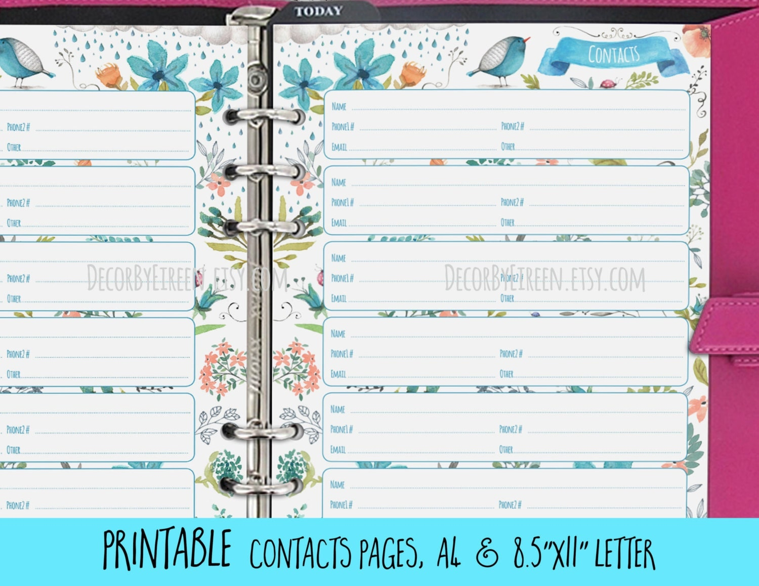 Satisfactory image with regard to printable address book pages