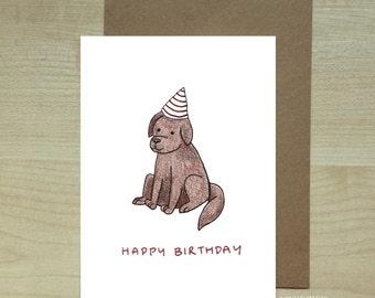 Happy birthday labrador greeting card