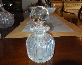 CUT GLASS PERFUME Bottle with Stopper