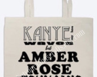 Kanye and Amber Rose Twitter Beef Tote Bag