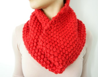 The Molly Cherry Red Chunky Infinity Scarf Cowl