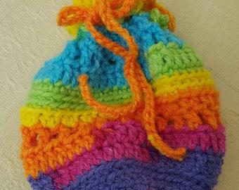 Handmade crochet pouch bag
