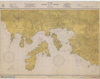 St. Thomas Island Harbor (USVI) Historical Map 1941