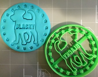 Customized Dog Cookie Cutter (with your dog's Name ) Limited edition