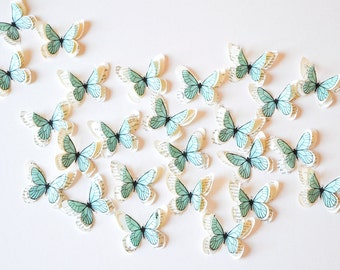 Pastel blue butterflies, custom wedding decoration, wall decal baby, pastel paper decoration, paper butterfly, aqua decor