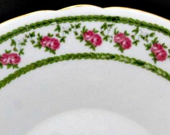 """Antique Dinner Plates, Set of 2 Foley """"Antique Rose"""" Serving Plates by Wileman and Co, Dessert Plates, Pattern Number 10136, Circa 1890s"""