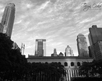 View from Bryant Park Black and White Photography Print