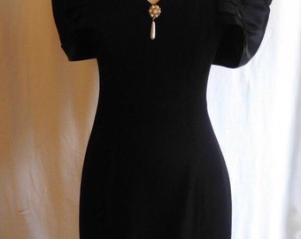 Scarlet Little black dress,off shoulder black dress, vintage black dress, 80 black dress