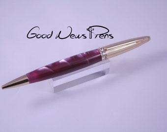 Custom Pens, Ballpoint Pens, Ladies Pens, Writing Pens, Purple Lavender Pens, Desk Accessories, Bling Pens, Writing Desk, Journal Writing