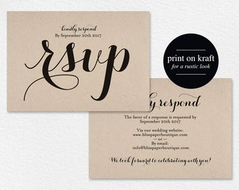 RSVP Postcard, rsvp template, wedding rsvp cards, wedding rsvp postcards, rsvp cards, rsvp online, DIY, PDF Instant Download #BPB133_1_1