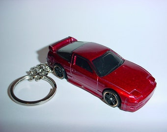 3D Nissan Silvia 240SX custom keychain by Brian Thornton keyring key chain finished in dark red color trim 180X nismo