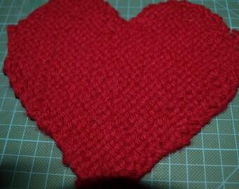 Knitted Heart  Mats