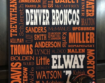 18X24 Sports Custom Subway sign, Personalized Word Collage