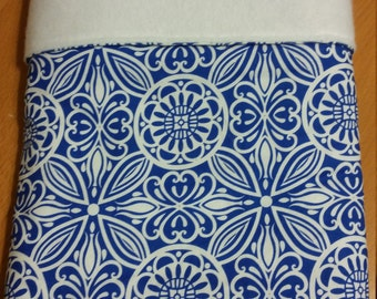 Cute Blue and White patterned Baby Blanket