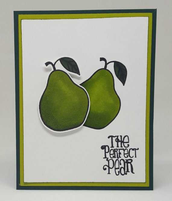 Perfect For Anniversary Cards And: The Perfect Pear Romantic Greeting Card Pears Green Wedding