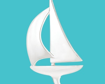 Sailboat Pendant - Sterling Silver